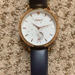 Kate spade watch with Navy leather band